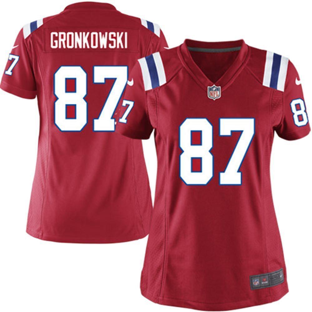 Rob Gronkowski New England Patriots Nike Women S Game Jersey Red New England Patriots Gear Gronkowski New England Patriots Apparel