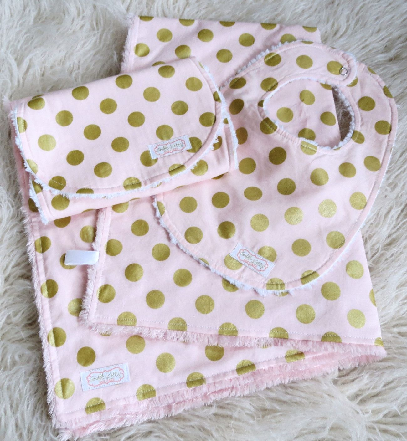 Baby Girl Is Sure To Snuggle With This Minky Shag Baby Blanket For Years To Come