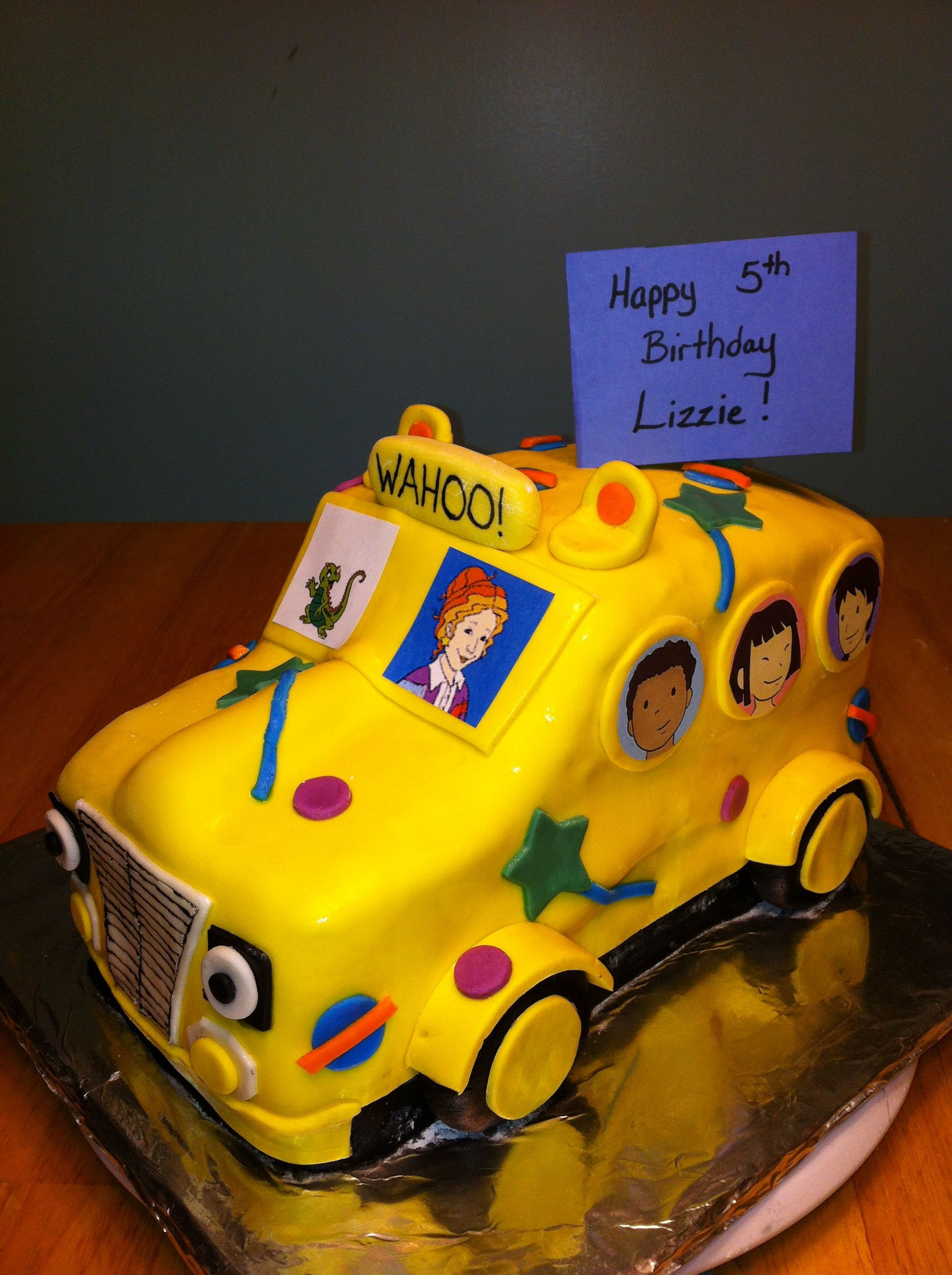 Its The Magic School Bus Birthday Cake Cake Diva Cakes