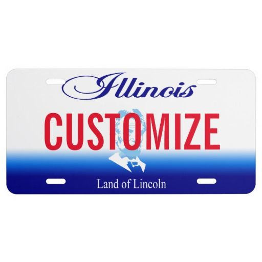 illinois custom license plate | license plates and frames