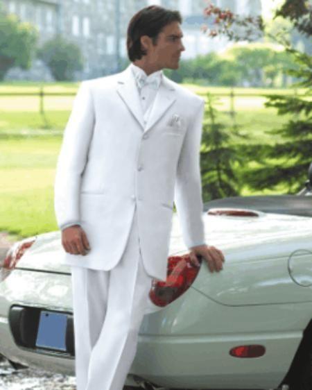 Id Emilyy733 All White Prom Wedding Groomsmen Tuxedo Dress Suits