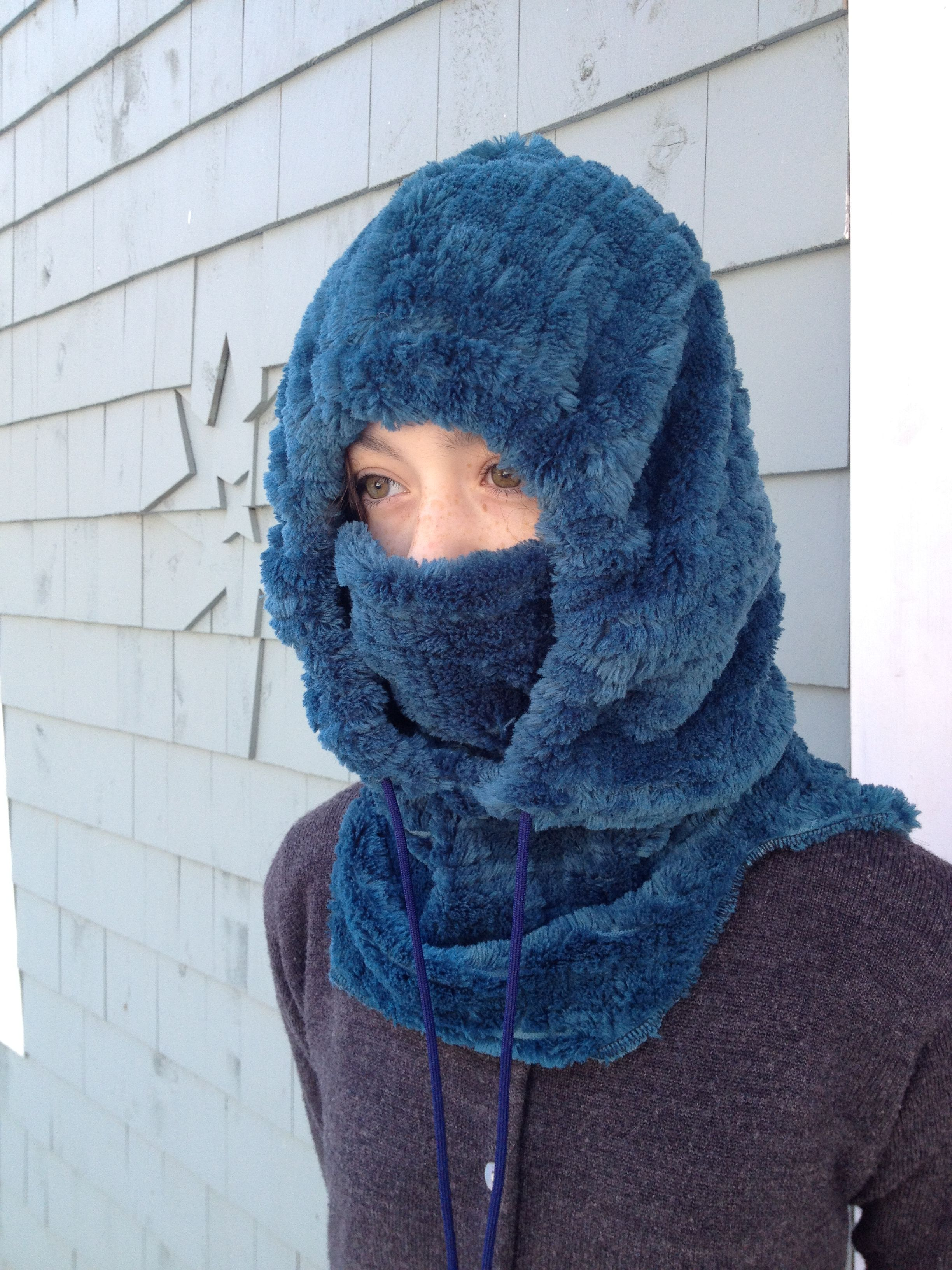 Fleece hood hat tutorial and free pattern | Projects to Try ...