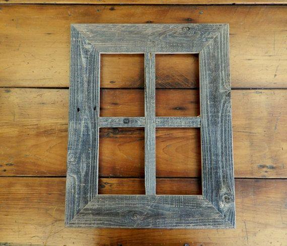 3 Rustic Barn Wood 4 Opening 5x7 Pane Window Frame Etsy Barn Wood Multi Picture Frames Window Frame