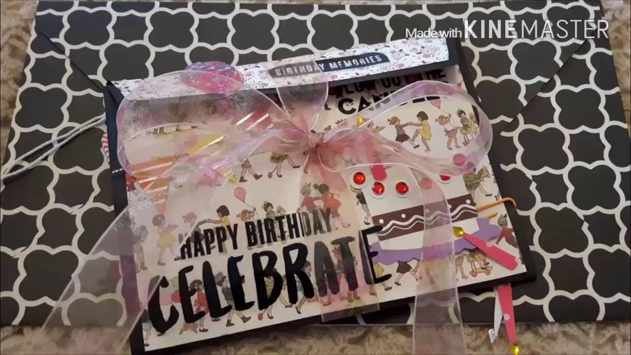 My Video Response To Lalas Creations12 Birthday Card Challenge