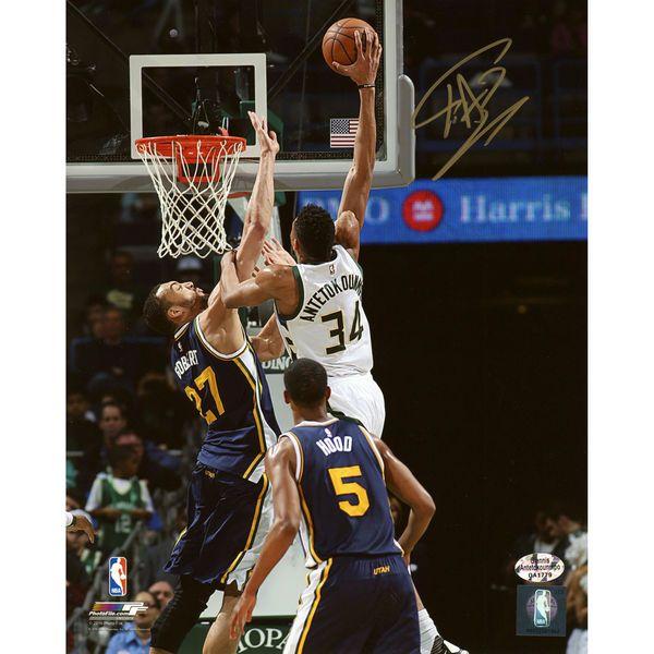 outlet store e5817 cd8e7 Giannis Antetokounmpo Milwaukee Bucks Fanatics Authentic ...