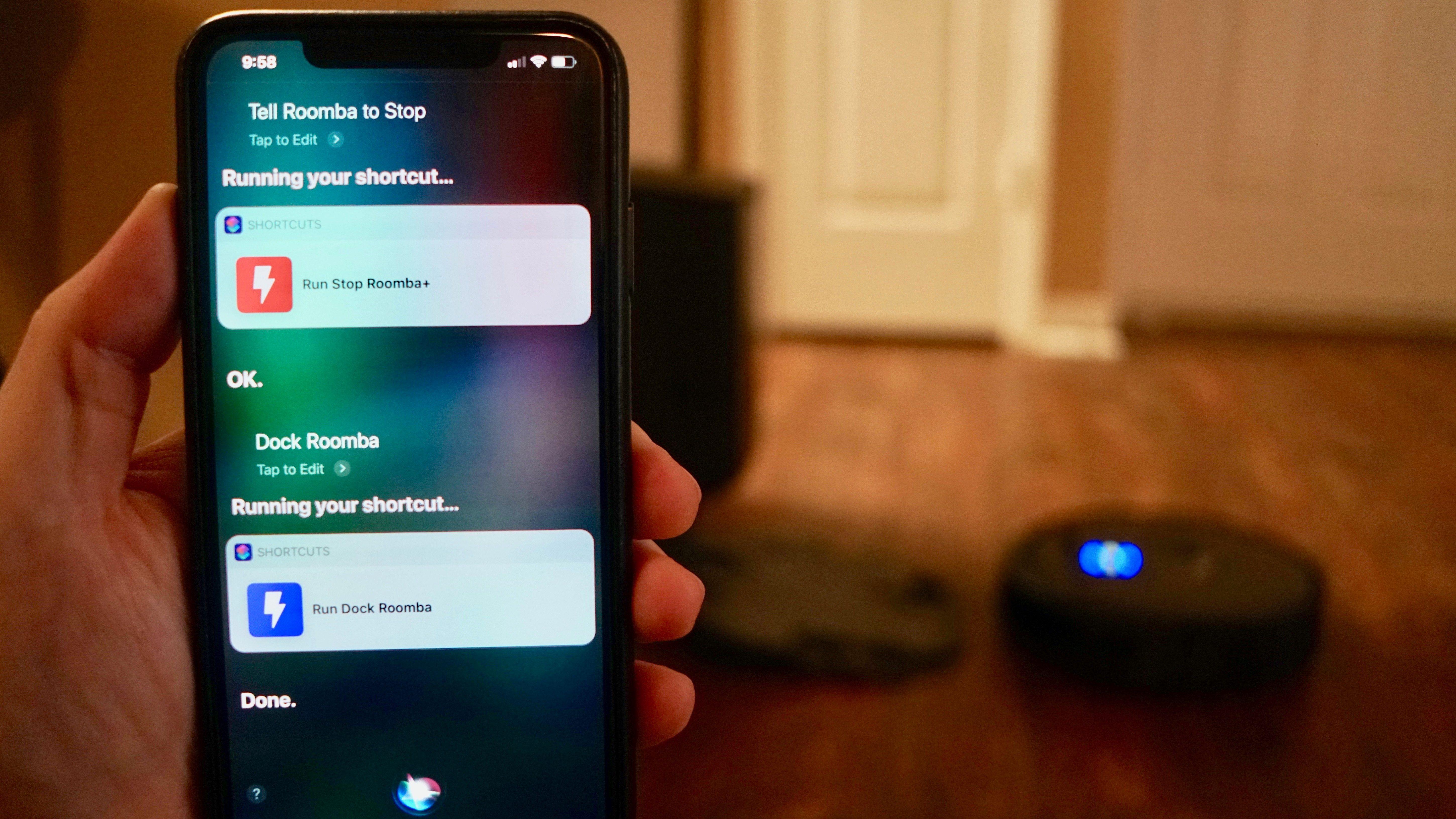 Controlling iRobot's Roomba vacuum with Siri, no HomeKit