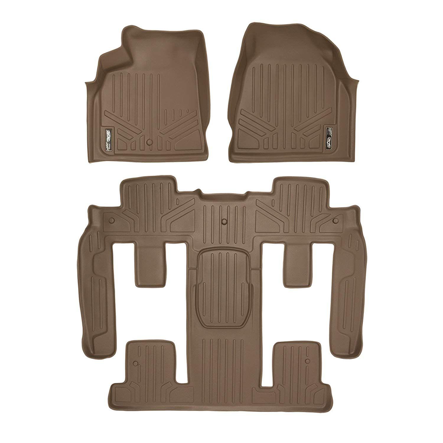 Smartliner Floor Mats 3 Row Liner Set Tan For Traverse Enclave Acadia Outlook With 2nd Row Bucket Seats Continue To The Product At The Im Buick Enclave