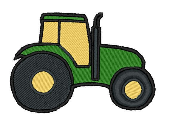 Farm Tractor Embroidery Design Farm Tractor Digitized Embroidery Design In 2020 Digital Embroidery Digitized Embroidery Designs Embroidery Designs