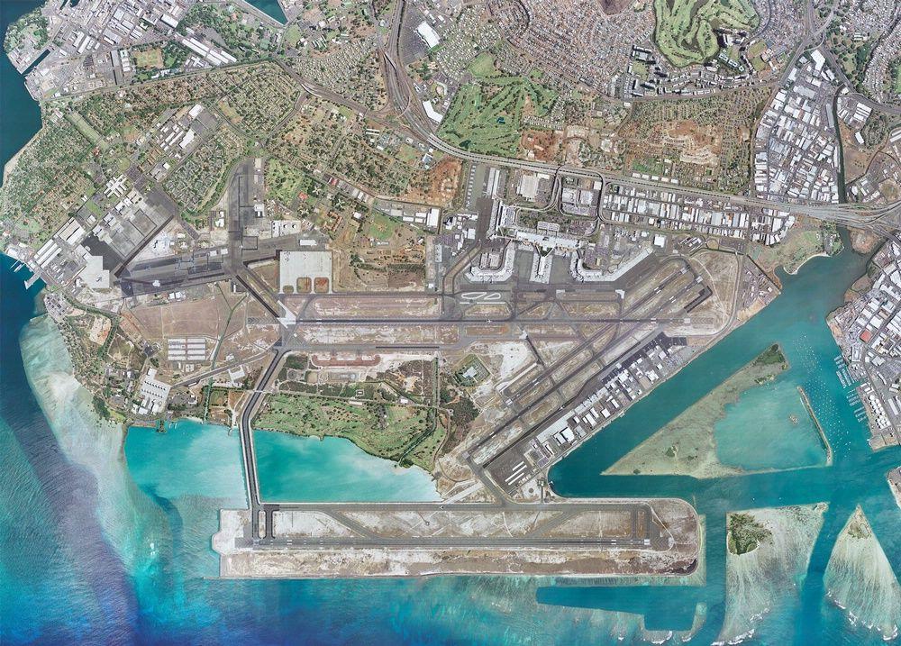 Honolulu International Airport Aerial View  Geeky