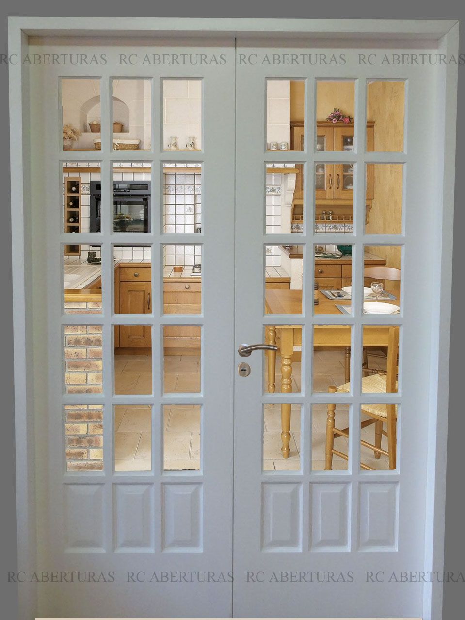 Resultado de imagen para puertas de dos hojas para cocina - Puertas de dos hojas ...