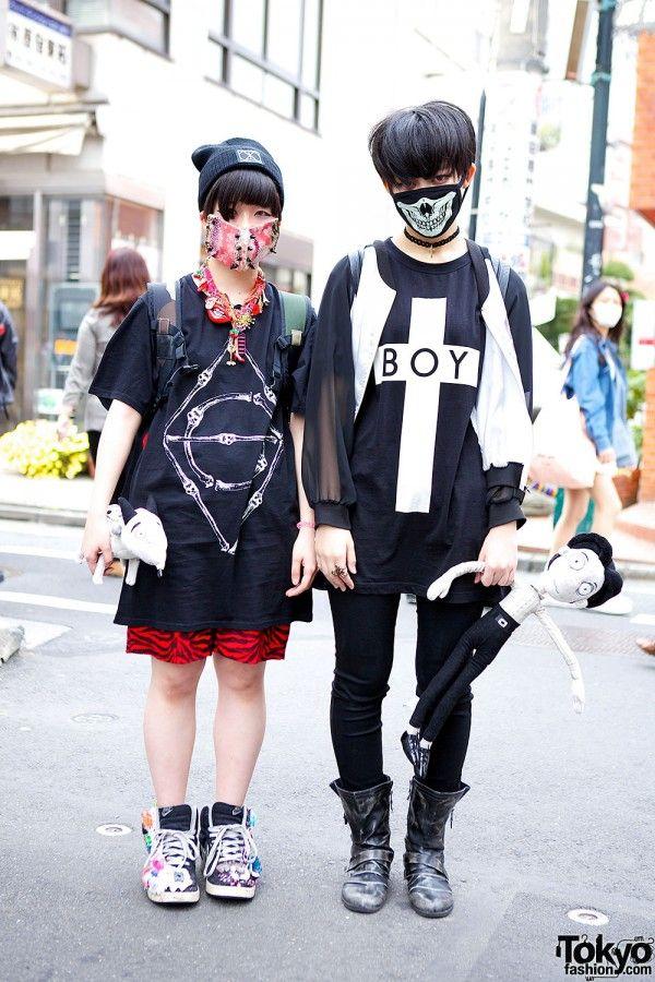 harajuku girl with face masks mode pinterest mode japonaise mode et mode asiatique. Black Bedroom Furniture Sets. Home Design Ideas