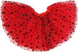 """Red/Black Glitter Bubbles Tutu - $10.00  Approx. 11"""" in length. Fits ages 6 months to 10 yrs.  @ facebook.com/itskarmababyjax"""
