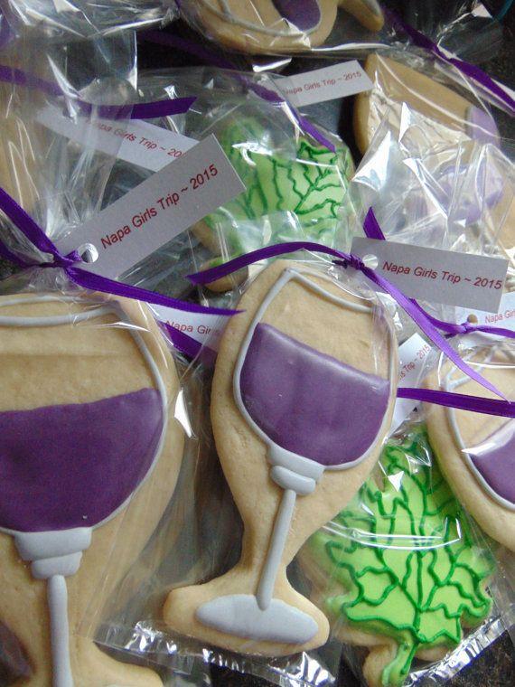 Wine themed cookies by TreatsbuyTerri on Etsy Napa Girls Trip!