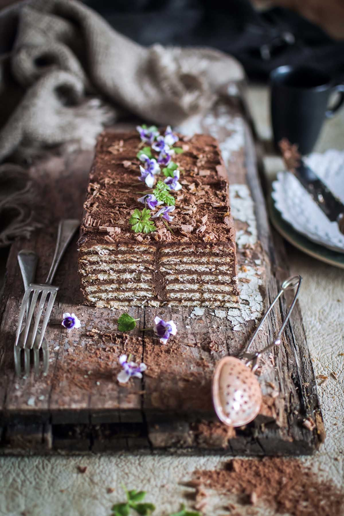 Mum's biscuit cake with coffee & chocolate Recipe