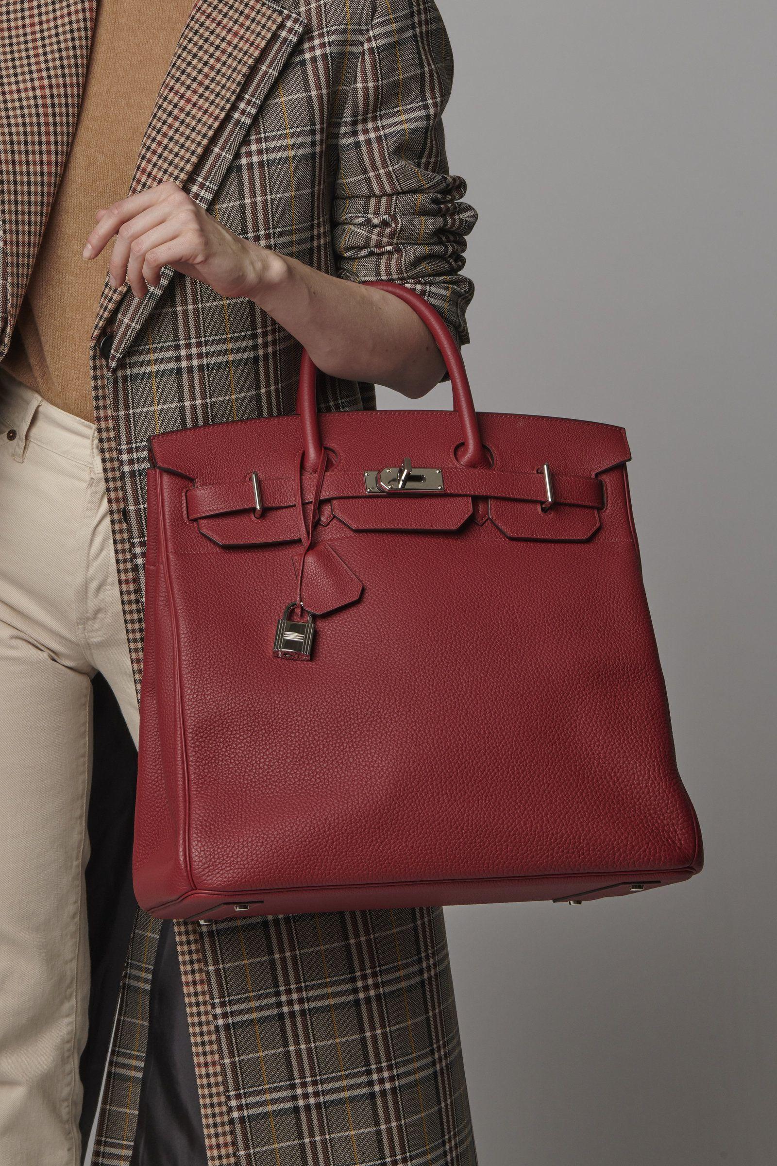 35ea82a947 Hermès 40cm Rouge Grenat Togo Leather HAC  Birkin