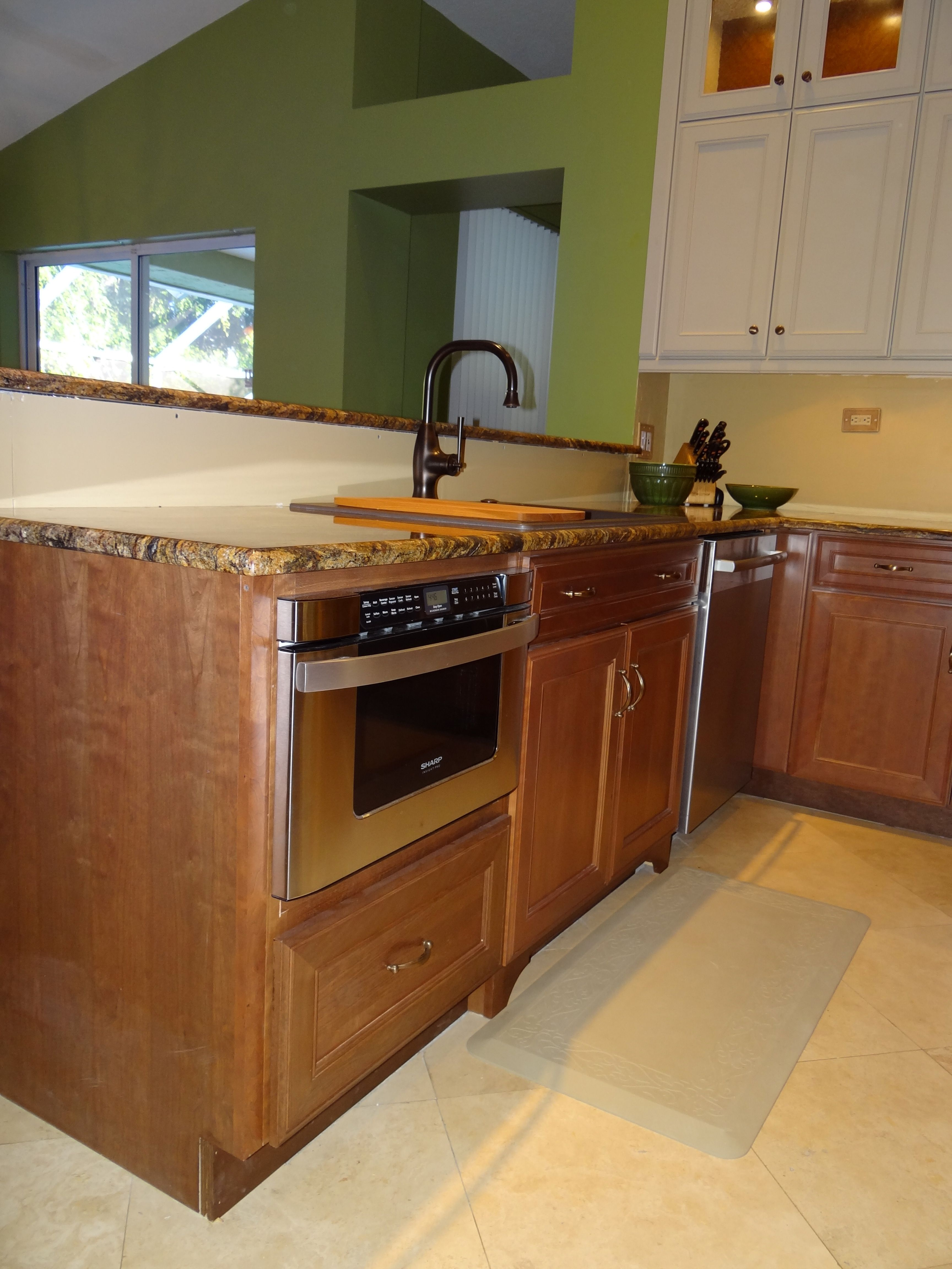 island ultimate a bar drawer microwave with single this includes and an basement dishwasher pin