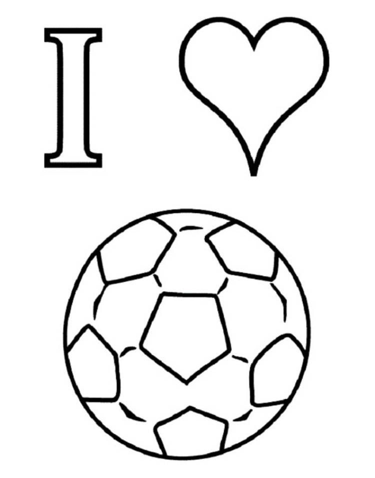 I Love Soccer Coloring Pages For Kids