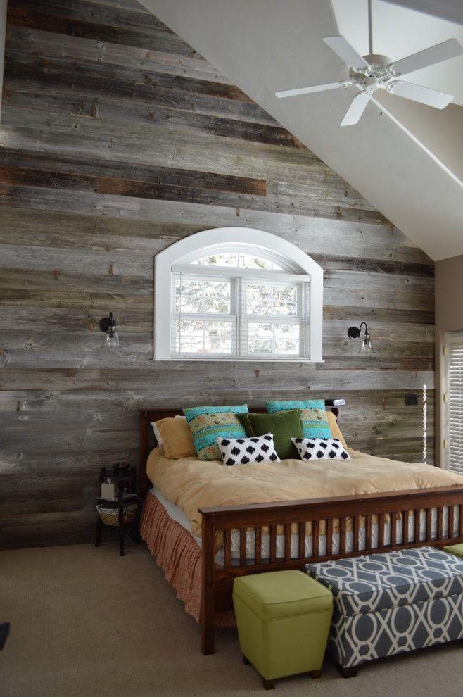 Wood Accent Wall Bedroom Rustic Bedroom Design Farmhouse Bedroom Decor Modern Rustic Bedroom Decor