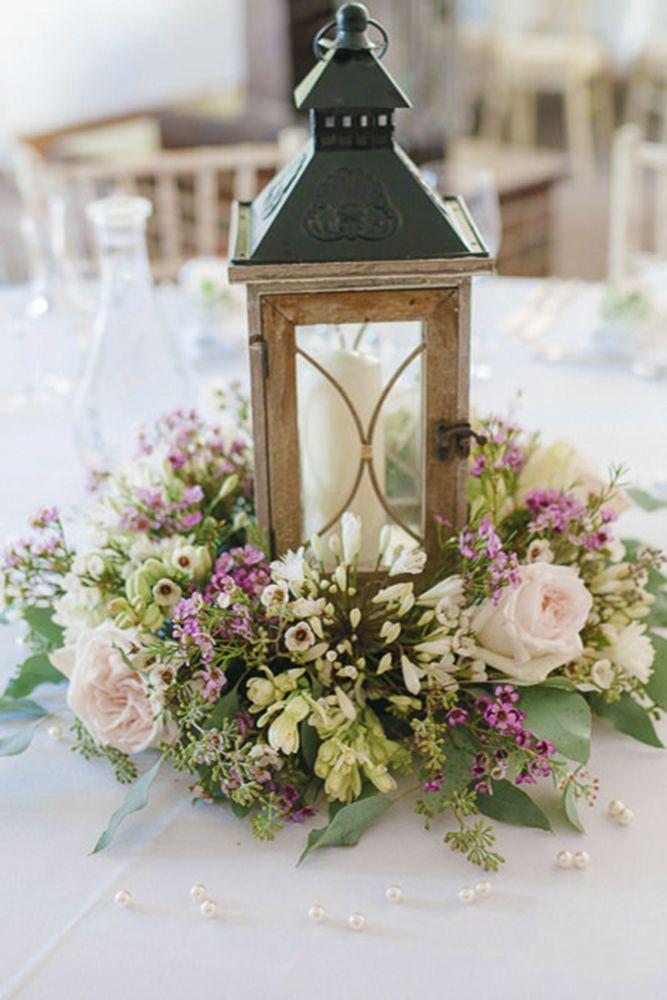 42 Romantic Rustic Wedding Lanterns | Lantern centerpiece ...
