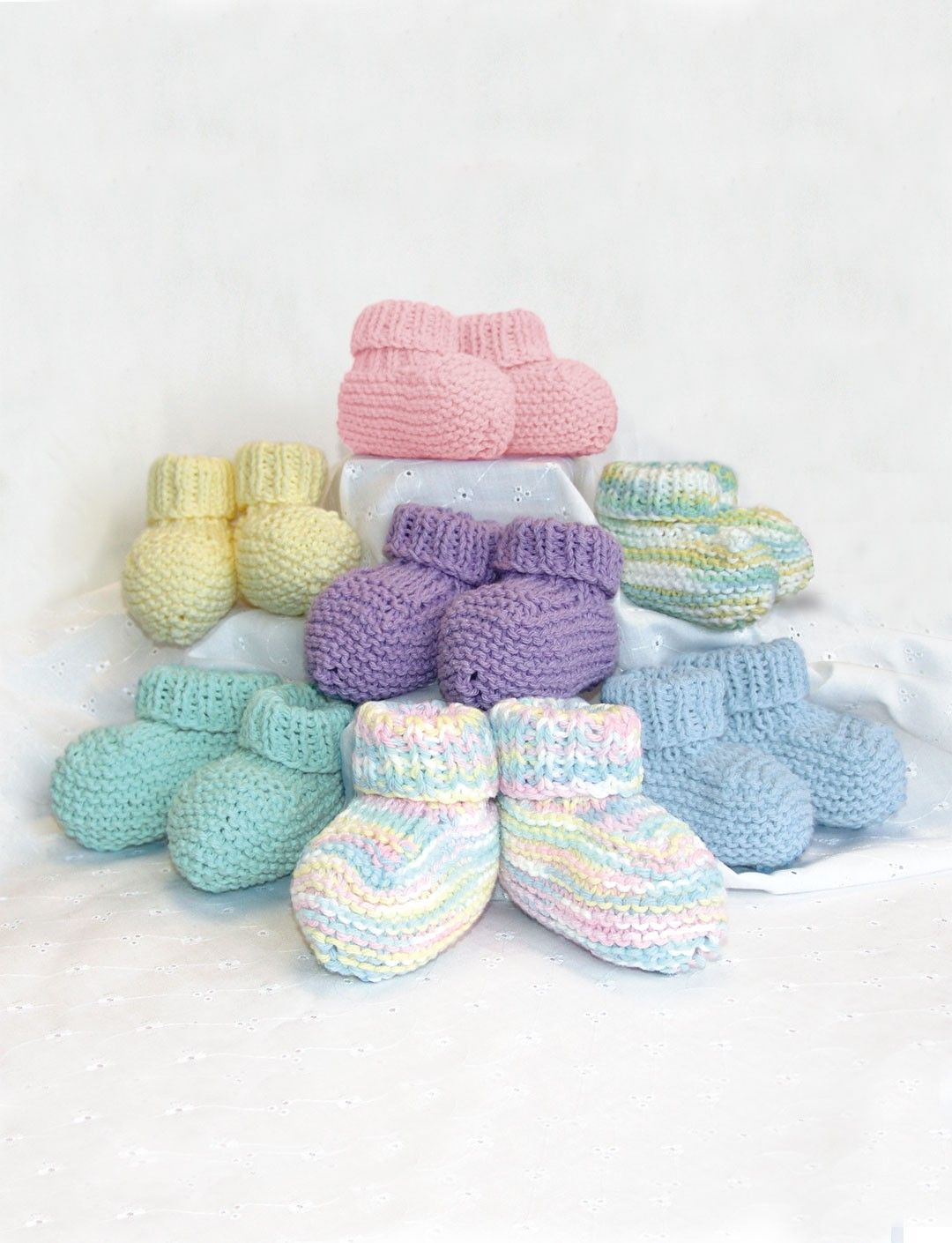 Knit Baby Booties - Free Pattern | Yarnspirations | Project - To ...