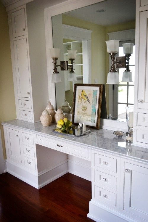 Makeup Vanity Design Ideas Pictures Remodel And Decor Built In