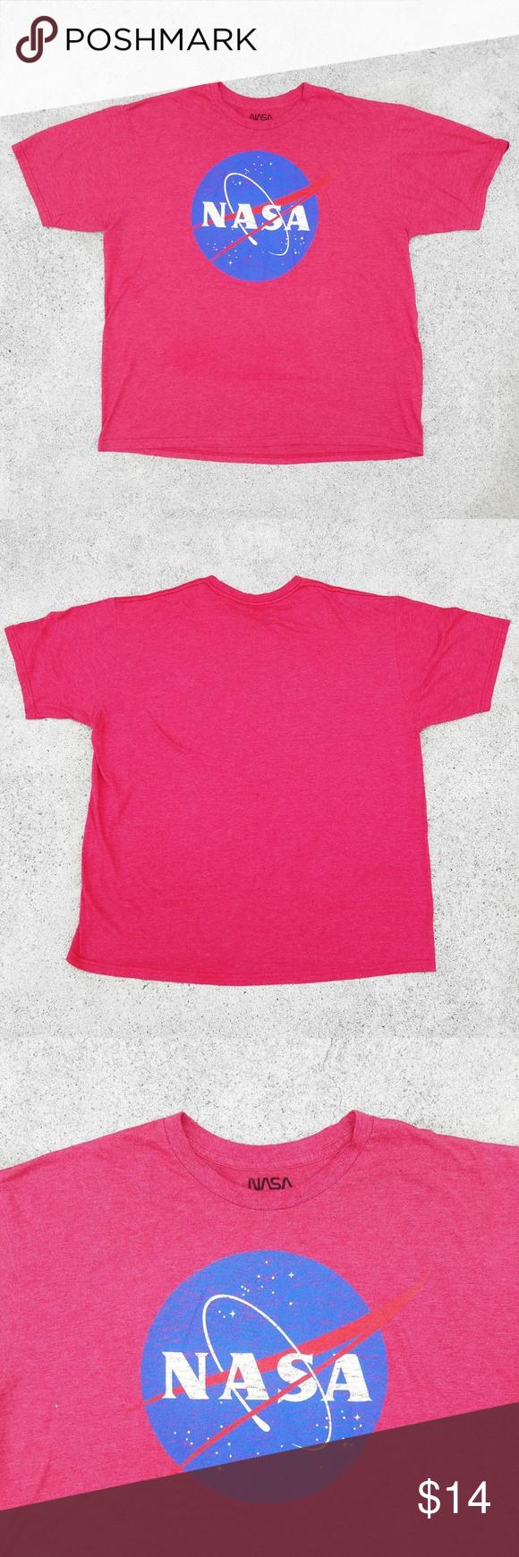 Red Nasa Heather Tshirt Red Nasa T Shirt The Logo Is A Bit Faded But I Think It Briyana Snipes In 2020 Nasa Clothes Nasa Shirt Nasa