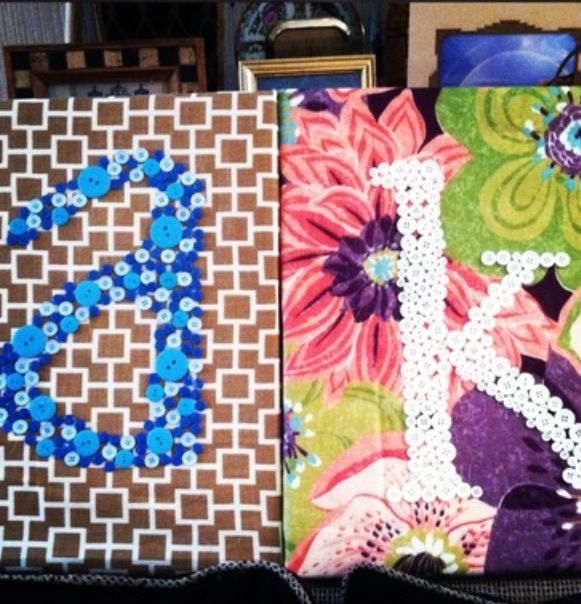 Modpodge, fabric, buttons!!!!:)