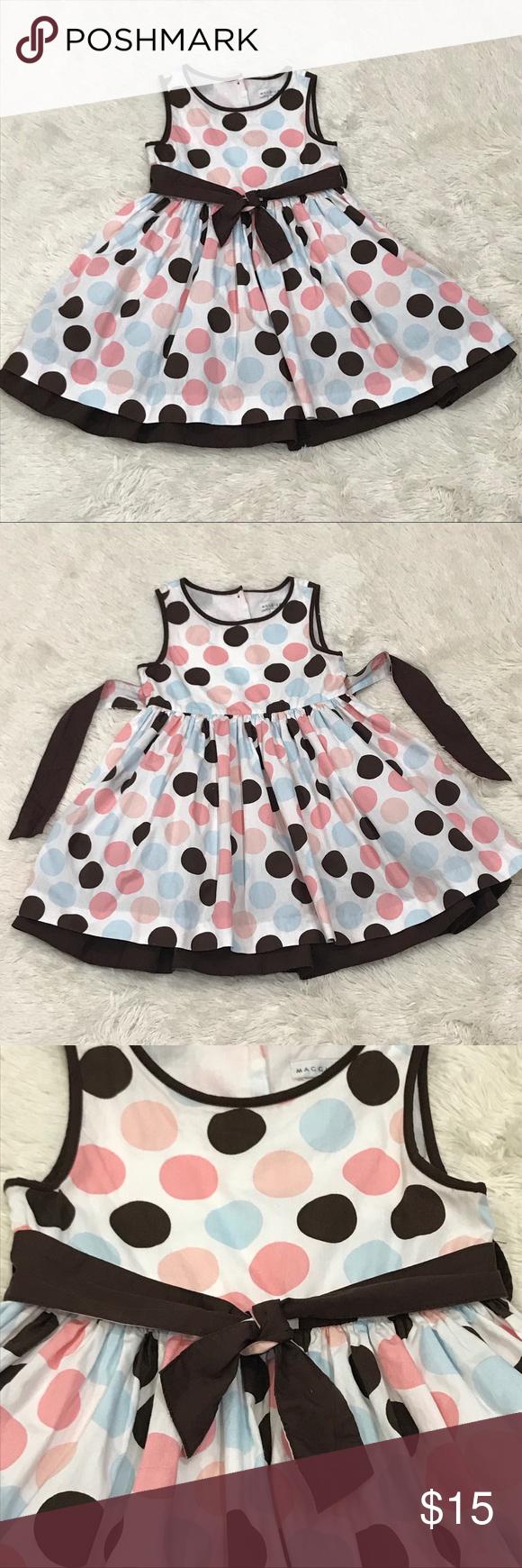 Maggie Zoe Toddler 5 Dress 5t Polka Dot Easter Boutique Toddler Dresses Toddler Dress Dresses 5t [ 1740 x 580 Pixel ]