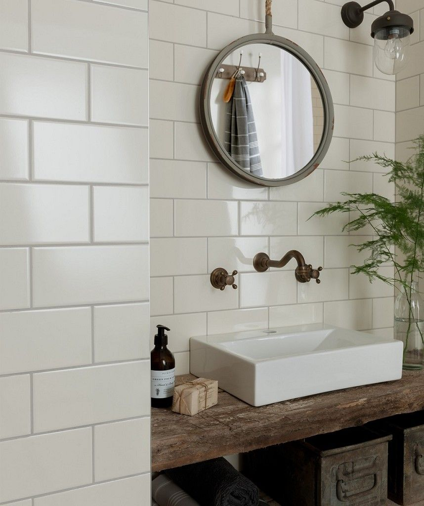 Matrix Cream Tile Brick Bathroom Topps Tiles Bathtub Tile