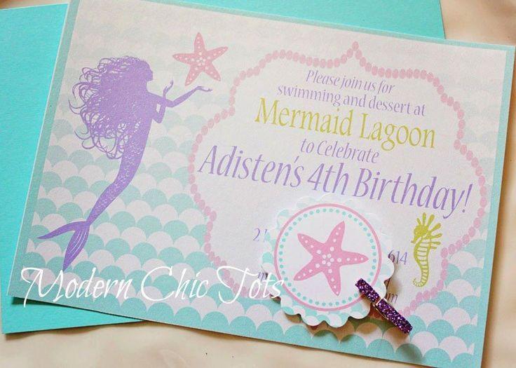 under sea mermaid party invitations MermaidUnder the Sea Party