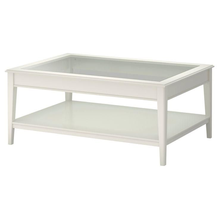 Ikea Liatorp Coffee Table White Gl Cm Practical Storage E Underneath The Top