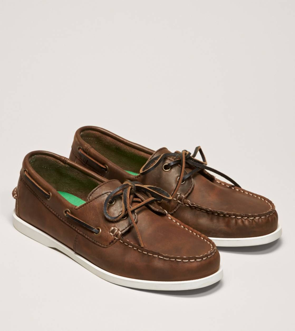 Zapatillas para barcos con dise?o de 2 ojos para hombre, color tostado, 7 M US