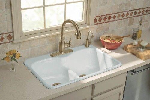 Kohler Kitchen Sinks With Images Cast Iron Kitchen Sinks
