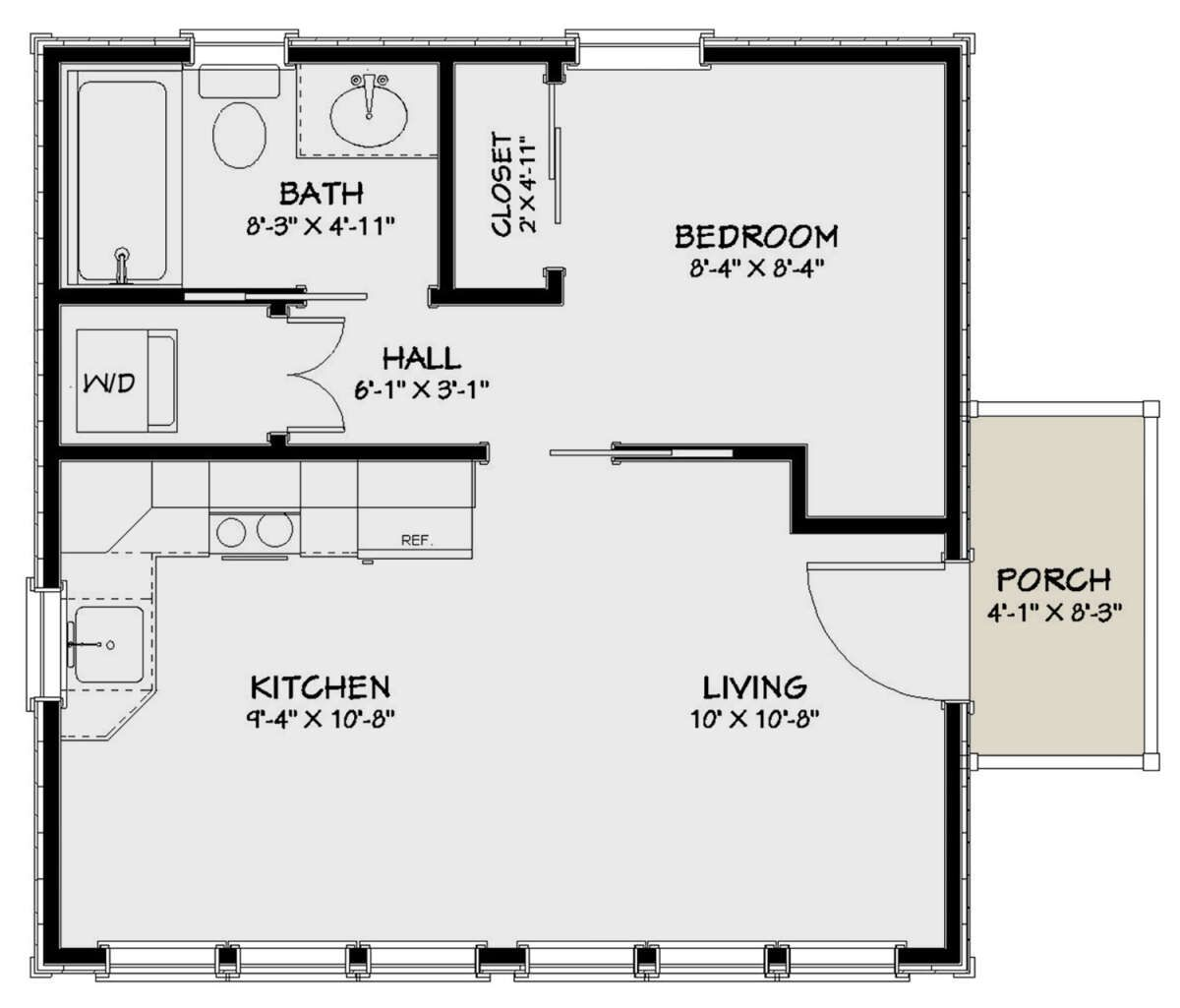 House Plan 1502 00003 Cottage Plan 400 Square Feet 1 Bedroom 1 Bathroom In 2020 Small House Floor Plans Tiny House Floor Plans House Plans