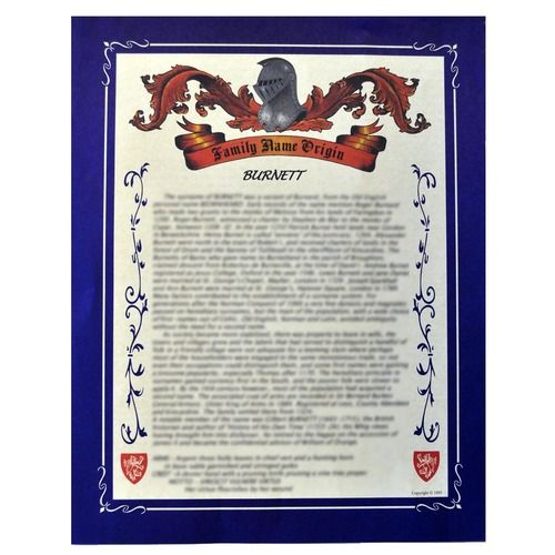 Surname Name History Scroll Makes A Great Gift Scottish Clans