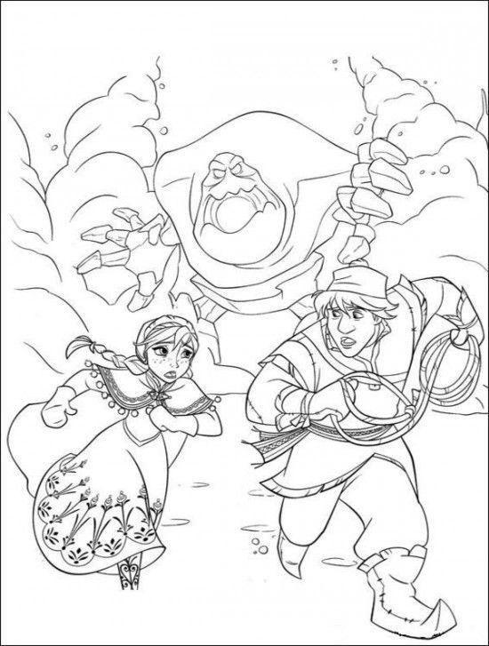 15 Free Disney Frozen Coloring Pages | Pinterest | Silueta frozen ...