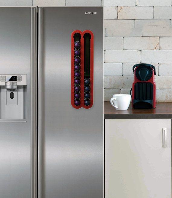 Red Coffee Capsules Holder Holds 20 Nespresso Pods By Mysheyne