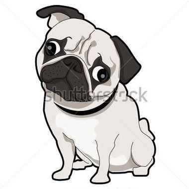 Pug Puppy With Images Pug Cartoon Cartoon Drawings Pugs