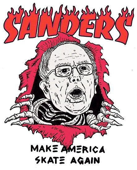 Thrasher Parody Bernie Sanders Make America Skate Again By Wilsonw