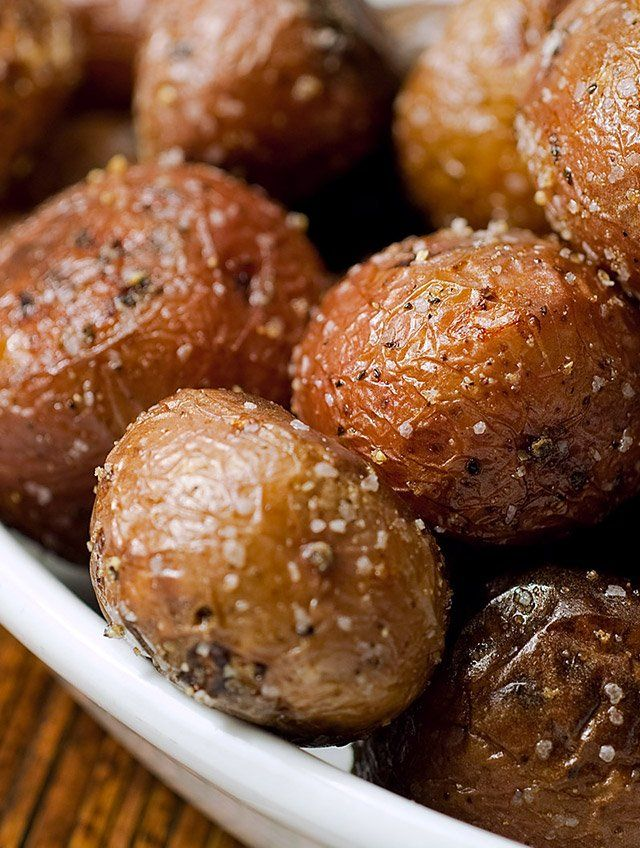 Perfectly tender and perfectly seasoned these simple roasted potatoes get a luxurious makeover with drizzle of white truffle oil.