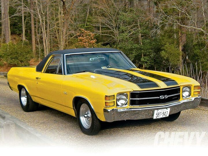 El Camino In Yellow And Black Chevrolet El Camino El Camino Chevy