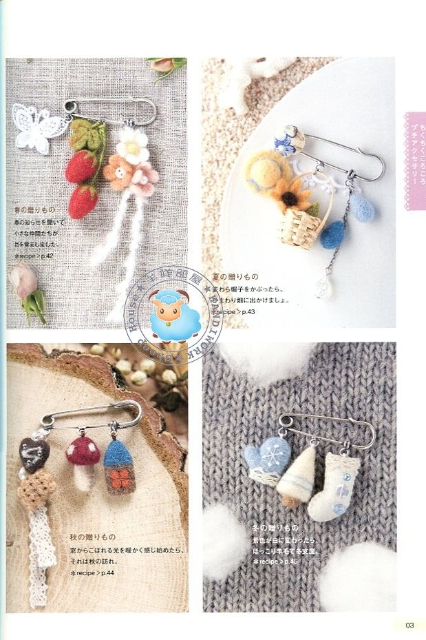 Kawaii Crochet Charms Accessories Japanese Crochet Patterns Book