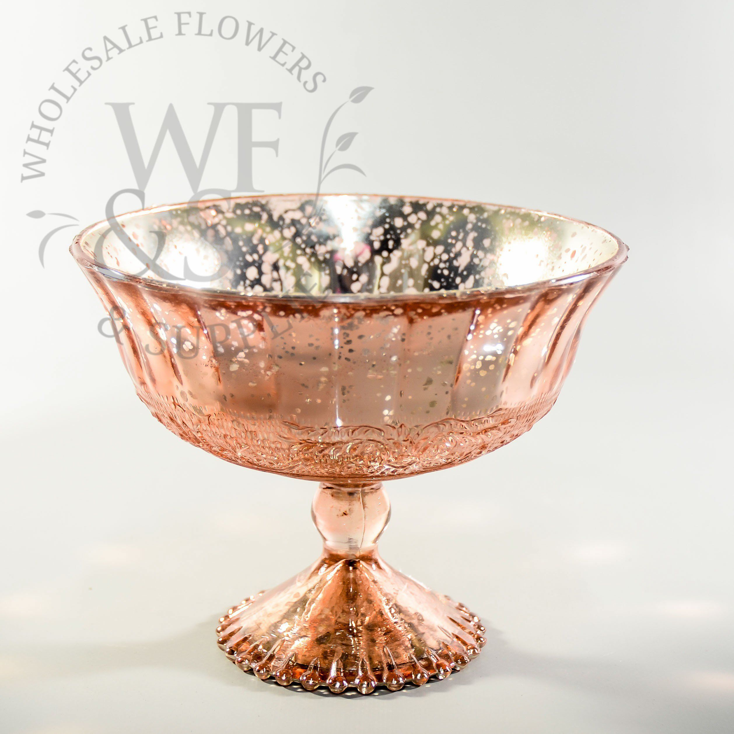 Glass pedestal vase in rose gold wholesaleflowersandsupplies glass pedestal vase rose gold wholesale flowers and supplies reviewsmspy