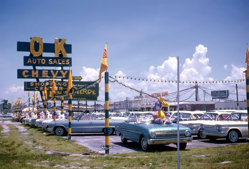 Vintage shots from days gone by! Chevrolet dealership