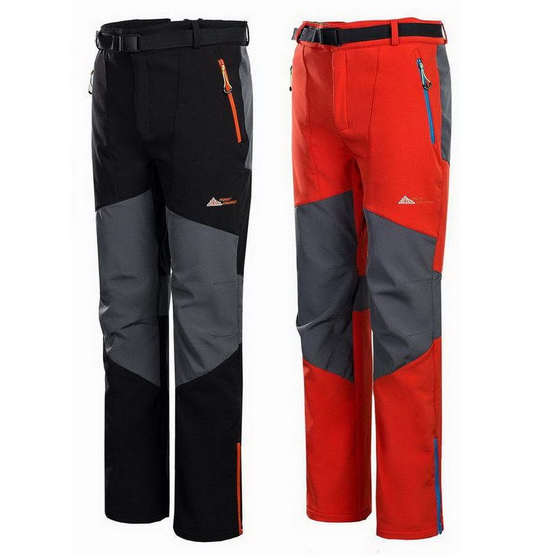 (Buy here: http://appdeal.ru/y3z ) Brand Ski Hiking Men's Ultimate Tech Fleece Softshell Pants Waterproof Outdoor Sport Trousers Travel Casual Pantaloni Red,UA010 for just US $36.99