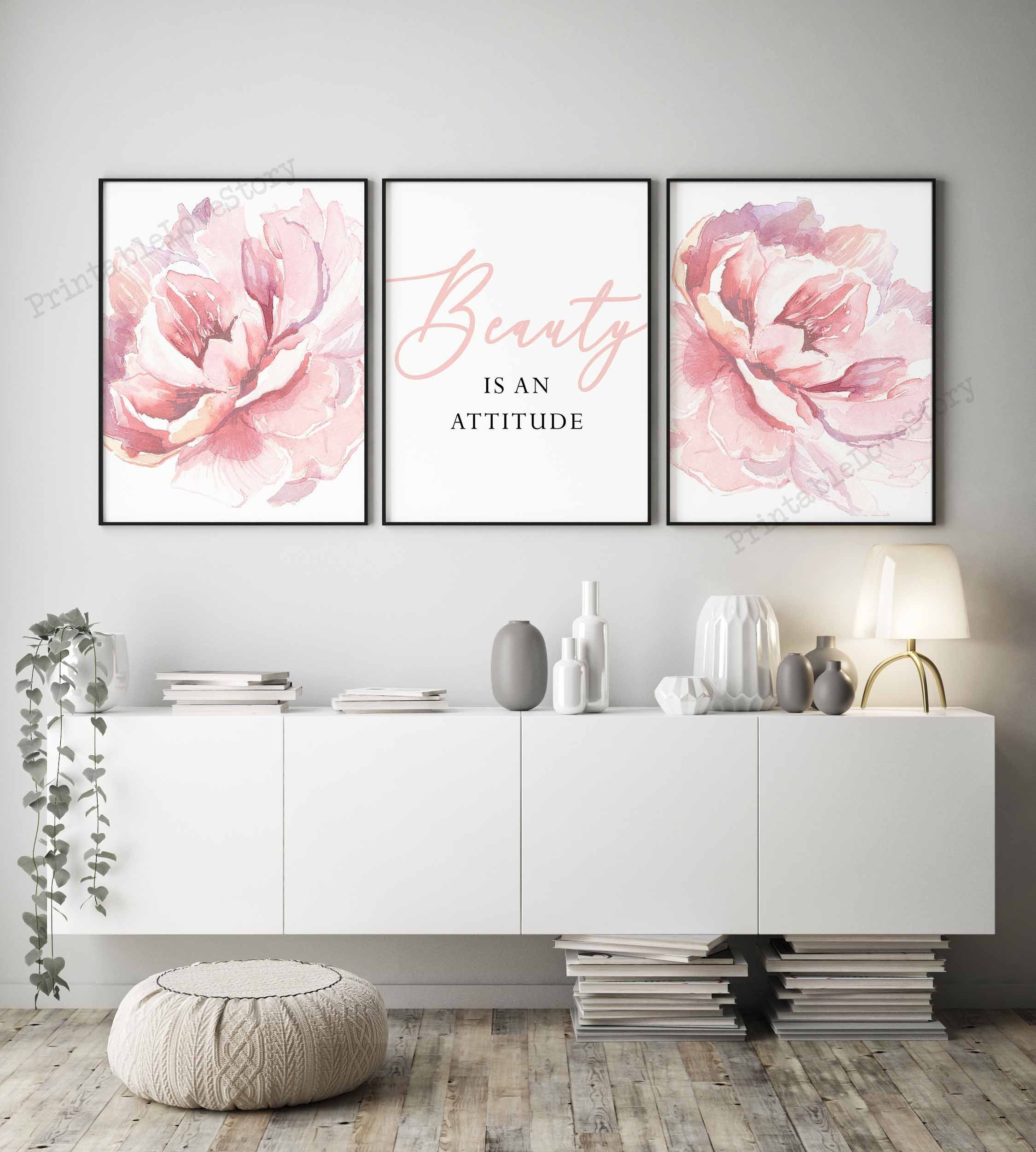 Blush Pink Wall Artbeauty Quotesbedroom Wall Artfashion Etsy In 2020 Bedroom Wall Art Pink Living Room Pink Bedroom Decor