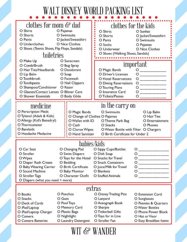 The Ultimate Disney World Packing List Expert Packing Tips