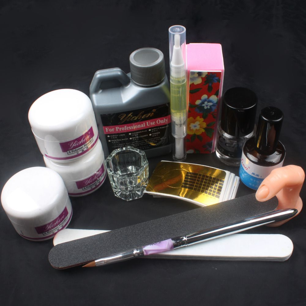 Pro Full Nail Art Acrylic Powder Kit DIY Set - free shipping ...