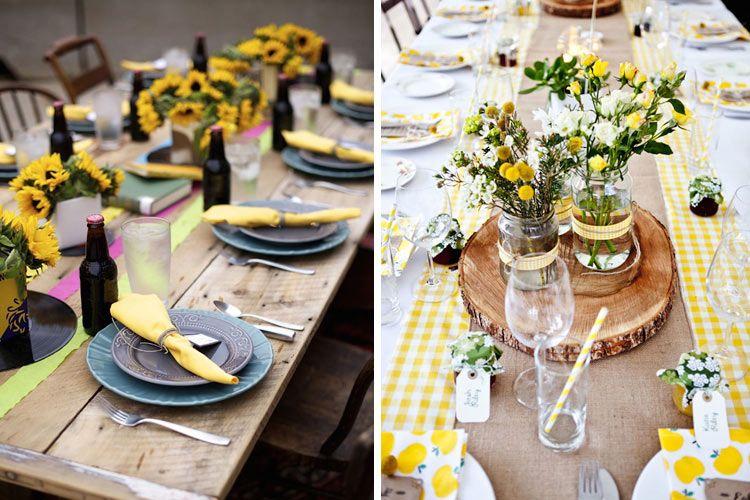 Decoracin de picnics y mesas al aire libre DECORACIONJARDINES
