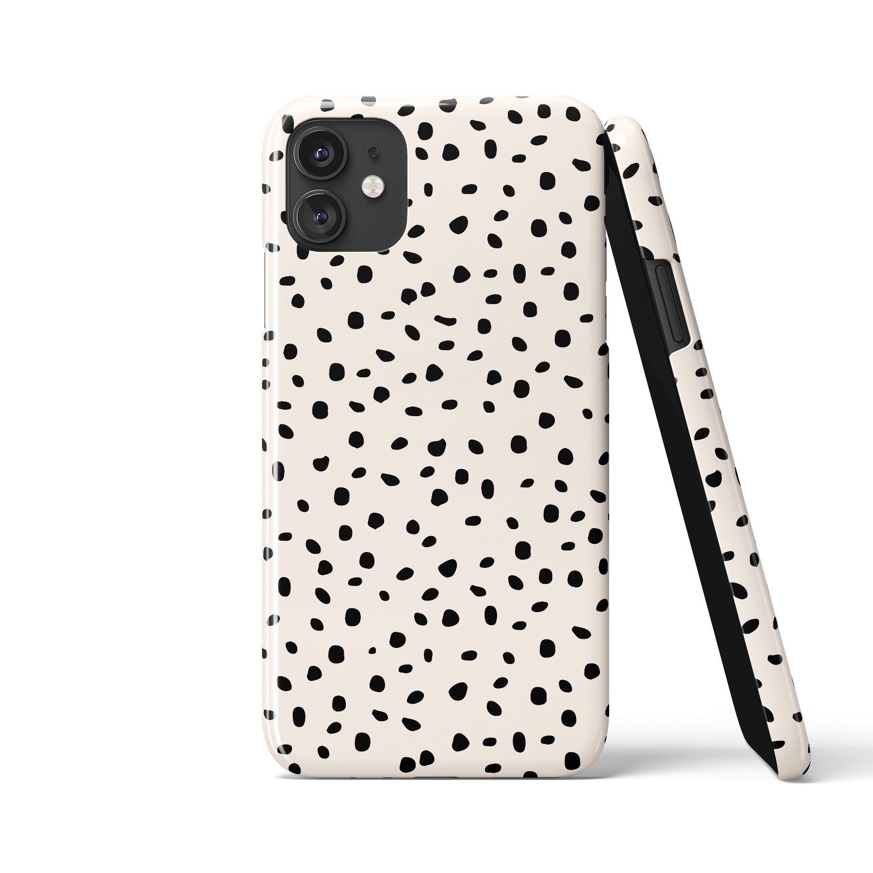 ARA POLKA DOTS White Phone Case - Samsung S10 Plus / Snap Case - Gloss